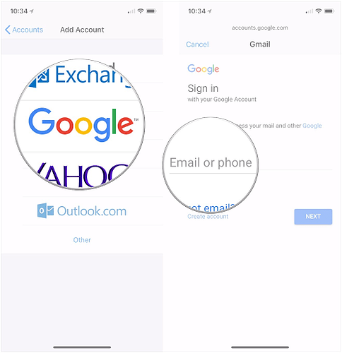 mail app view iOS